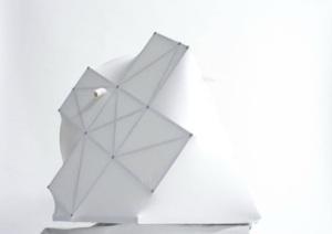 A model of the structure [photo via http://prada-transformer.com/]