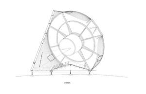 An illustration of the Transformer as a cinema [photo via http://prada-transformer.com/]